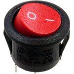 RS601C-10100R3B, переключатель клавишный ON-OFF 250B 6A красный (аналог ...