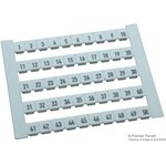 0473460001, TERMINAL MARKERS, CARD, 5 x 5mm, POLYAMIDE 66, WHITE