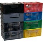 К1 прозрачный, Ячейки, цветной корпус прозрачный контейнер, 131х107х57мм