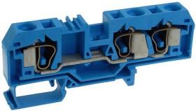 284-684, Conn Terminal Block F 3 POS T DIN Rail 50A Box