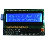 772, LCD SHIELD KIT, 16x2 BLUE/WHITE DISPLAY, ARDUINO