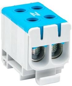 Фото 1/2 Клемма силовая вводная двойная КСВ 16-50кв.мм син. EKF plc-kvs2-16-50-blue