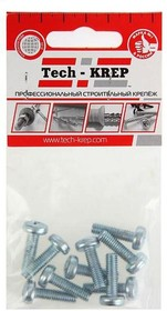 Винт М6х20 с полукруглой головкой цинк. DIN 7985 (уп.10шт) пакет Tech-Krep 103021