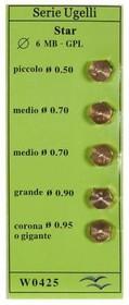 Фото 1/2 (WO425) жиклёры (форсунки) для газовой плиты Ariston, Indesit, Zanussi, Electrolux (на баллонный газ)
