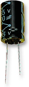 MCGLR35V336M6.3X11, Электролитический конденсатор, 33 мкФ, 35 В, Серия MCGLR, ± 20%, Радиальные Выводы, 6.3 мм