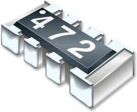 CAY10-222J4LF, Res Thick Film Array 2.2K Ohm 5% 0.25W(1/4W) ±200ppm/°C ISOL 8-Pin 0804(4 X 0402) Convex SMD T/R