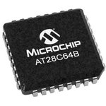 AT28C64B-15JU-T, EEPROM, 64 Кбит, 8К x 8бит, Parallel, LCC, 32 вывод(-ов)