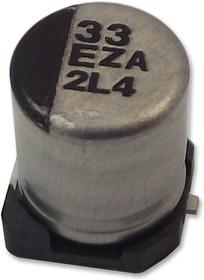 Фото 1/3 EEHZC1H100R, Hybrid Aluminium Electrolytic Capacitor, гибридный полимер, 10 мкФ, 50 В, Серия ZC, ± 20%