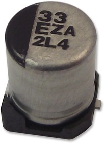 Фото 1/4 EEHZA1V680XP, Конденсатор, гибридный полимер, 68 мкФ, 35 В, Серия ZA, ± 20%, Radial Can - SMD, 0.035 Ом