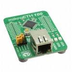 Фото 3/3 MIKROE-605, mikroETH100 Board, Периферийный модуль с Ethernet контроллером ENC624J600