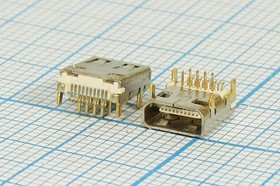 Фото 1/2 № 2720 гн microHDMI\19P4C\ плат\угл\micro HDMI-19F DIP\