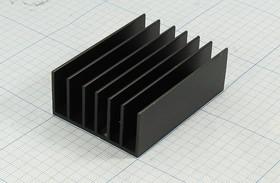 Ребристый радиатор черного цвета, №12488 охладитель 70x 51x 25\F02\\Al\чер\HS185-70\
