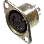 1-368, разъем DIN 5 контактов гнездо металл на корпус
