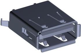 1734366-2, Разъем USB-A на плату вертикальный