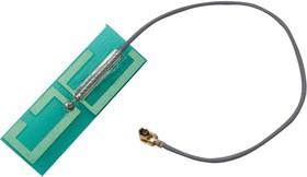 MAF94264, PCB Antenna, 4.9GHz to 6GHz, 2 VSWR, 4.8dBi Gain, Vertical Polarisation, I-Pex Connector