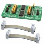 Фото 5/5 MIKROE-259, 5V-3.3V Voltage Translator Board, Плата 8-разрядного преобразователя логических уровней 5 - 3.3 В