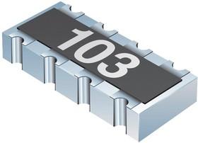 CAT10-103J4LF, Фиксированный резистор цепи, 10 кОм, 25 В, 4 элемент(-ов), Изолированный, 0804 [2010 Метрический]