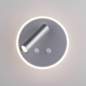 Фото 1/7 MRL LED 1014 / Светильник настенный светодиодный Tera серебро