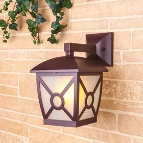 Фото 1/3 GL 1022D / Светильник садово-парковый Columba D коричневый (GL 1022D)