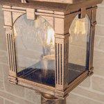 Фото 3/4 GL 1021F / Светильник садово-парковый Corvus F черное золото (GL 1021F)