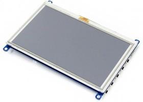 Фото 1/3 5inch HDMI LCD (G), HDMI дисплей 800×480px с резистивной сенсорной панелью для мини-PC