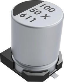 EXV336M6R3A9BAA, SMD электролитический конденсатор, Radial Can - SMD, 33 мкФ, 6.3 В, серия EXV, 3000 часов при 105°C