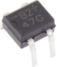 B2M-E3/45, Diode Rectifier Bridge Single 200V 0.5A 4-Pin Case MBM Tube