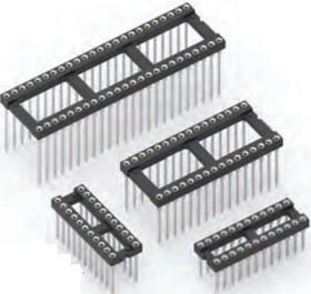 123-43-640-41-001000, Conn DIP Socket SKT 40 POS 2.54mm Wire Wrap ST Thru-Hole Tube
