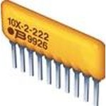 Фото 2/4 4610X-101-152LF, Res Thick Film NET 1.5K Ohm 2% 1.25W ±100ppm/°C BUS Conformal Coated 10-Pin SIP Pin Thru-Hole Bulk