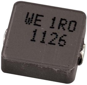 74437324010, Силовой индуктор поверхностного монтажа, Серия WE-LHMI, 1 мкГн, 5 А, 9 А, Экранированный, 0.027 Ом