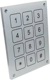 CPKBA11-3X4, Keypad Piezo Aluminium 3