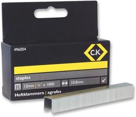 496004, Упаковка из 1000 скоб для тяжелых условий эксплуатации 10.5 x 12мм для степлеров 6222, 6227 и 6228