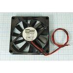 Вентилятор постоянного тока 12 Вольт, 80x80x15мм, подшипник скольжения ...