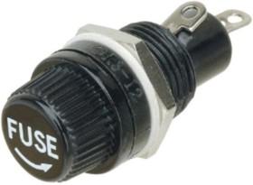 FH-02 (KLS5-254-2), Держатель на пр.бл. для предохранит.5,2х20 мм.(К-221)