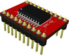 Фото 1/3 Адаптер SOIC 20 (SSOP 20) / DIP 20, Универсальный переходник из SOIC 20 и SSOP 20 к DIP 20