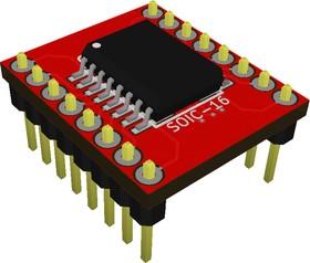 Фото 1/3 Адаптер SOIC 16 (SSOP 16) / DIP 16, Универсальный переходник из SOIC 16 и SSOP 16 к DIP 16