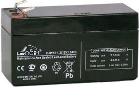 DJW12-1.3, Аккумулятор свинцовый 12В-1.3Ач 97x44x53