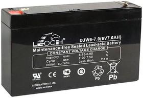 DJW6-7, Аккумулятор свинцовый 6B-7Ач 151x34x94