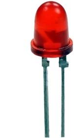 АЛ307БМ, Светодиод красный 50° d=5мм 0.9мКд 655нМ
