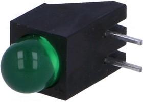 Фото 1/4 L-1503CB/1GD, Светодиод, низкой мощности, Зеленый, Сквозное Отверстие, T-1 3/4 (5mm), 20 мА, 2.2 В, 568 нм