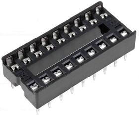 Фото 1/2 SCS-18 (DS1009-18AN), DIP панель 18 контактов узкая
