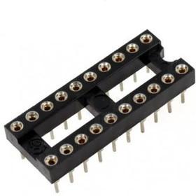 Фото 1/2 TRS-20 (SCSM-20)- (DS1001-01-20N), DIP панель 20-контактная цанговая узкая