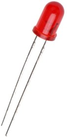 Фото 1/2 L-7113ID-5V (L-53ID-5V), Светодиод красный 60° d=5мм 30мКд 625нМ 5В