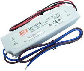 LPC-35-700, AC/DC LED, 9-48В,0.7А,33Вт,IP67 блок питания для светодиодного освещения
