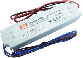 Фото 1/3 LPC-60-1400, AC/DC LED, 9-42В,1.4А,59Вт,IP67 блок питания для светодиодного освещения