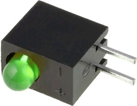 Фото 1/2 L-934CB/1GD, Светодиод в корпусе зеленый 60° d=3мм 15мКд 568нМ