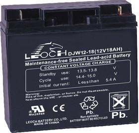 DJW12-18, Аккумулятор свинцовый 12В-18Ач 181x75x167
