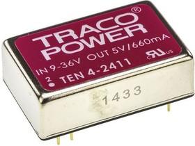 TEN 4-2411, DC/DC преобразователь, 4Вт, вход 9-36В, выход 5В/660мА