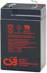 GP645, Аккумулятор свинцовый 6B-4.5Ач 70x47x107