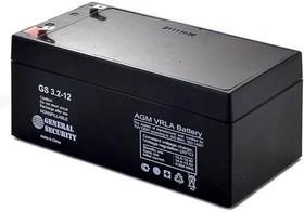 GS3.2-12, Аккумулятор свинцовый 12B-3.2Ач 134x67x60